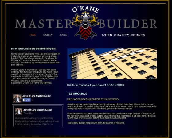 Master Builder website and logo design