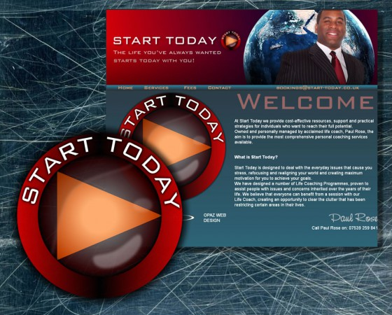 Start Today website and branding