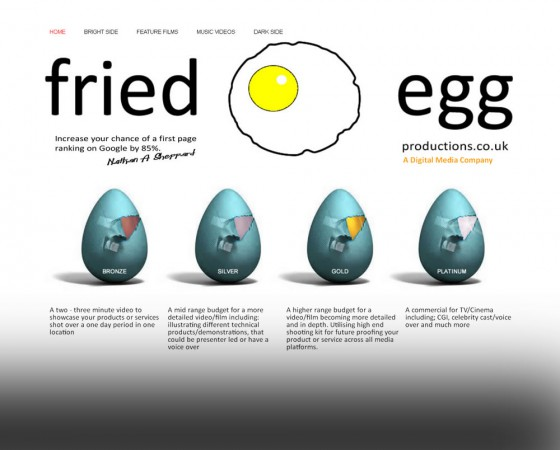 Fried Egg website and branding